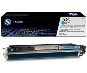 Заправка картриджа CE311A (126A) для принтера cyan hp CP1025/ CP1025NW/ LJ PRO 100 COLOUR MFP M175A
