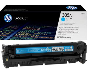 Заправка картриджа CE411A (305A) cyan для принтера HP Color LaserJet Pro 300/ 400 - M251nw / M375nw / M475dw / M475dn / M451dn / M451nw / M451dw