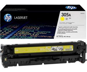 Заправка картриджа CE412A (305A) yellow для принтера HP Color LaserJet Pro 300/ 400 - M251nw / M375nw / M475dw / M475dn / M451dn / M451nw / M451dw