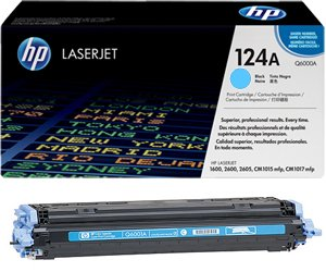 Заправка картриджа Q6001A (124A) cyan для принтера HP COLOR LASERJET 1600/ 2600/ 2605/ CLJ CM1015/ CM1017