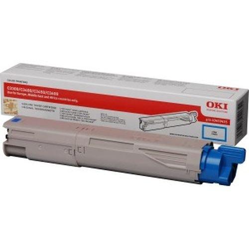 Заправка картриджей OKI для принтера C3300 / C3400 / C3450 / C3500 / C3520 / C3530 / C3600 / C3540 / MC350 / MC360 - cyan