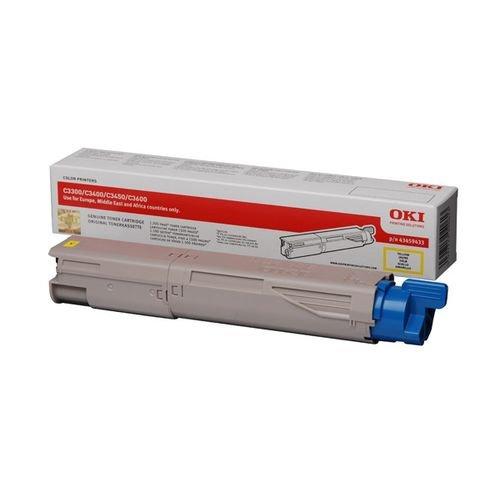 Заправка картриджей OKI для принтера C3300 / C3400 / C3450 / C3500 / C3520 / C3530 / C3600 / C3540 / MC350 / MC360 - yellow