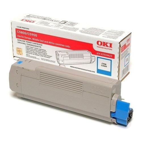 Заправка картриджей OKI для принтера OKI C5900 / C5800 / C5500 / C5550 / C6100MFP - cyan
