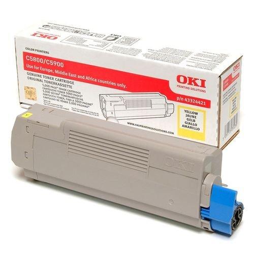 Заправка картриджей OKI для принтера OKI C5900 / C5800 / C5500 / C5550 / C6100 MFP - yellow