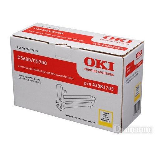 Заправка картриджей OKI для принтера OKI C5600 / C5700 - yellow