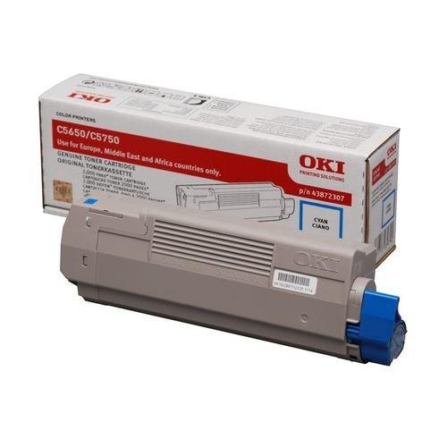 Заправка картриджей OKI для принтера OKI C5650 / C5750 - cyan