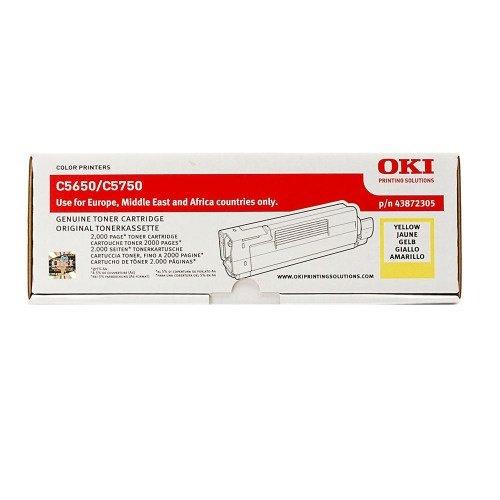 Заправка картриджей OKI для принтера OKI C5650 / C5750 - yellow
