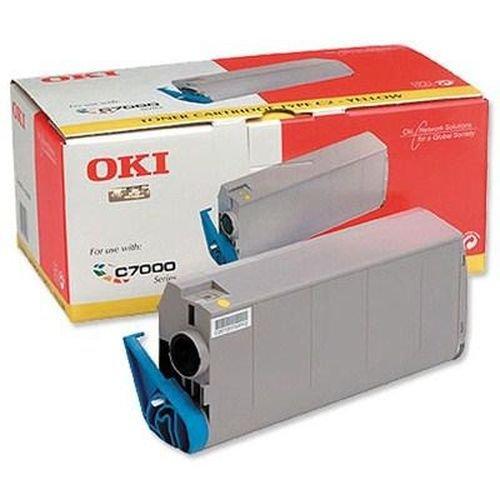 Заправка картриджей OKI для принтера OKI C7100 / C7200 / C7300 / C7350 / C7400 / C7500 - yellow
