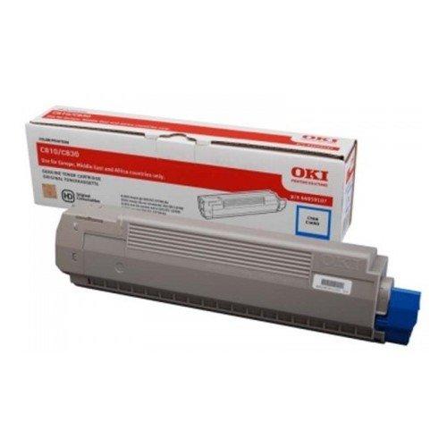 Заправка картриджей OKI для принтера OKI C810 / C830 - cyan