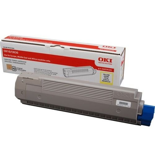 Заправка картриджей OKI для принтера OKI C810 / C830 - yellow