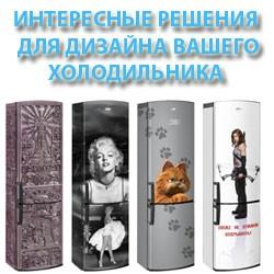 Интересные решения для дизайна холодильника