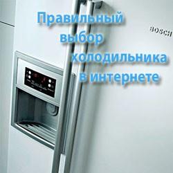 Правильный выбор холодильника в интернете